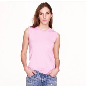 J.Crew Pink Cotton Jackie Shell Small NWT